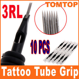 Wholesale 10Pcs set RL Disposable Tattoo Needle and Tube quot mm Grip H8552