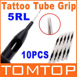 Wholesale 10Pcs set RL Disposable Tattoo Needle and Tube quot mm Grip H8553