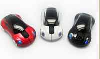 Wholesale 2 GHz USB Wireless RF Optical Mouse Car Auto mode Blue ray Mice for Computer DHL Free