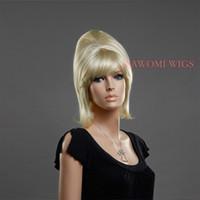 straight European Wigs Christmas Hot sale Halloween cheap Golden new good popular wig stright women hairpiece medium short periwig