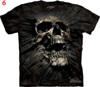 Wholesale THE MOUNTAIN D T Shirt solid D object tee Skull