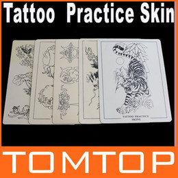 Wholesale 5pcs set Synthetic Flexible Tattoo Designs Practice Skins Skin Body Art for beginners H8708