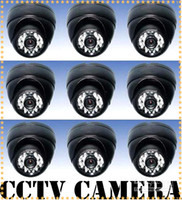 Wholesale 24 LED Light Wired Trumpet Shell Night View CCTV Camera