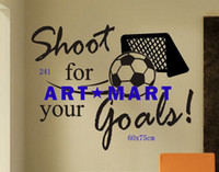 Wholesale Vinyl Wall Quote Decal Shoot for Your Goals Soccer Vinyl Wall Sticker Mixed Designs No