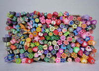 Wholesale 40 Nail Art Fimo Canes Rods Decoration canes polymer clay nail art Stickers cane fruit