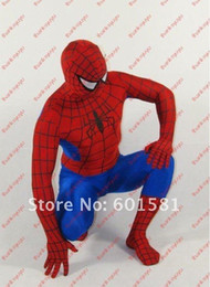 Wholesale Lycra Spandex Spiderman zentai unitard Costume S XXL sexy spider man factory directly supplying