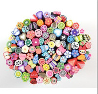 Wholesale 1000 Nail Art Fimo Canes Rods Decoration canes polymer clay nail art Stickers cane fruit