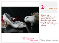 Wholesale Low heel wedding shoes bridal shoes party shoes ivory satin material sandals size Di5