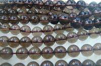 Wholesale 6 MM Natural round tea crystal smoky quartz loose beads gemstone jewelry beads
