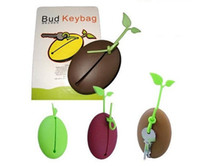 Wholesale New exotic silicone interest Coffee Bean Key Bag Holder Keychain