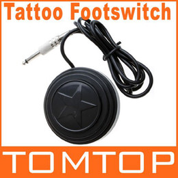 Wholesale Round Star design Durable Tattoo Machine Foot Pedal universal Footswitch Power Supply H8716