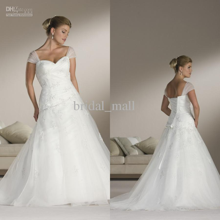 Wedding dresses with cap sleeves and sweetheart neckline for Adding cap sleeves to a wedding dress