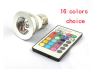 Wholesale Good quality W Remote Control changeable Color LED Bulb Light Mini lamp V V drop shipping
