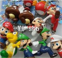 Guangdong China (Mainland) yi-sho PVC Wholesale lovely Super Mario key chain,key ring KEY Charms Phone Charm 55pcs 5 set