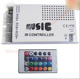 White Music IR Controller For RGB 5050 3528 SMD LED Lights Strip Anode