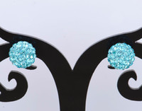 Wholesale Top sale New Pave Cystal Beads Studs pairs Mixed order silver Popular Earrings