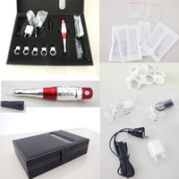 Wholesale Beauty Permanent Tattoo Makeup Eyebrow Lip Machine Kits Needles Tips Case Tool Kits Cosmetic Supply