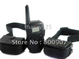 Wholesale 100Level Vibration Shock Anti Bark Stop training dog collar with LCD display M for dog CE