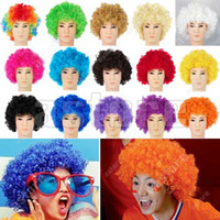 afro wigs - New Fashionable Afro Curly Clown Party Disco hair Wig Wigs Colours in choice fx131