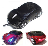 Wholesale Hot sale luxury car shape D usb optical wired mouse mice for laptop pc with colorful light