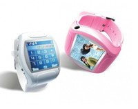 Wholesale New Unlocked inch TFT touch screen Quad band Bluetooth Watch cell phone mobile MP4 FM Camera