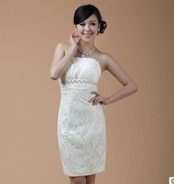 Wholesale 2012 new bride wedding dresses champagne party dress short dress