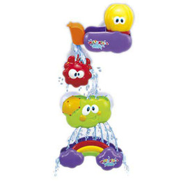 Wholesale Baby Enjoy Bath Toy Waterfall Rainbow Set Water Poured Suction cups tile Mirror