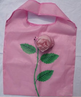 Wholesale New arrivals hot Rose Cute Eco Reusable Shopping Shoulder Tote Bag