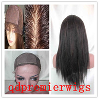 Wholesale Silk Top Full lace Wigs Kinky Straight B highlights Average Cap Size X4 Silk Base