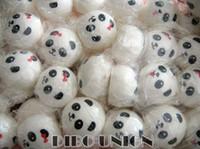 al por mayor squishies-Venta por mayor Kawaii Panda par bollo conjunto (4-10cm) blando encanto/comer/llave de cadena/teléfono móvil