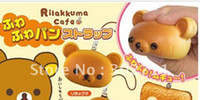 China (Mainland) lymays Simulation food phone chain RS09 Cute squishy rilakkuma bear cell phone charm,mixed order, free shipping