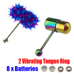 Wholesale Vibrating Tongue Bar Ring Koosh Ball Free Batteries for Body Jewelry Piercing J1