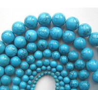 Wholesale 6 MM Cheap Natural blue turquoise round beads fashion jewelry gemstone loose beads