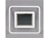Wholesale quot LCD Screen Square Shaped Digital Photo Frame with USB Slot White