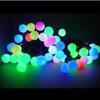 Wholesale LED Multi color Ball String Lamp Christmas amp Halloween Decoration m AC110V V