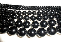 Without Metal Elements Crystal  Natural black tourmaline beads for sale!Beads jewelry accessories!Natural crystal beads!100pcs