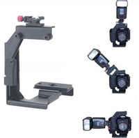 Wholesale Video Bracket Camera Flash Bracket light stand Quick Flip Rotate Bracket for SLR DLSR Camera