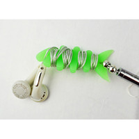 Wholesale Fishbone shape cable bobbin winder earphone holder Silicon rubber cm cm free HKpost
