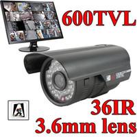 Outdoor CCD  CCTV 600TVL High Resolution CCD 36IR Outdoor Security Camera Surveillance system