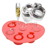 Wholesale New Hot Drink Bar Party Ice Tray Diamond Love Rings Ice Cube Style Novelty Freeze Mould