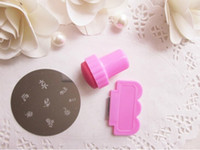 Wholesale 5 New Nail Art Stamping Stamp Tools Scraping Knife Set Round Stainless Steel Image Plate