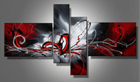 Wholesale Abstract Modern Oil Painting Huge Canvas Art Sets On Canvas Nice Abstraction Multiple Piece Fine Art