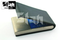 Wholesale Credit Business card cases CDC49 LE made of Real Cowhide and Pure Titanium TA2 g