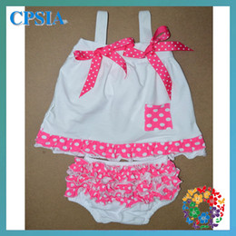 Wholesale high quanlity lovely fashion children baby clothes swing back top set sets