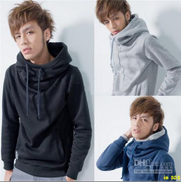Wholesale 2012 new fashion popular Men s Hoodies Sweatshirts Pullover Loosen Hooded College