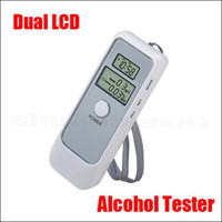 Wholesale Digital Breath Alcohol Tester Analyzer Breathaly with Clock Dual LCD Display Drive Safety Quick Resp
