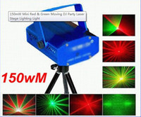 110V ac open - Mini Red And Green Moving Party Laser Stage Light Projector AC V Open herding H4353