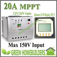 solar lighting mppt - 100 Real MPPT A Solar Charge controller Tracer RN with MT5 remote meter amps VDC MPPT Solar regulator