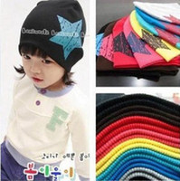Wholesale 10pcs Big Star Design Cotton Beanie Hats Kid s Skull Cap Toddler Infant Hat Children Accessories