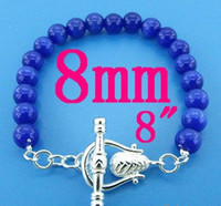 Wholesale DARK BLUE NEW Sterling Silver amp Opal Bohemian Wedding Bracelet Bangle Chain Charm Jewelry